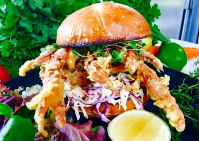 soft shell crab burger food truck (1)